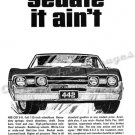 "1967 Oldsmobile 442 Ad Digitized & Re-mastered Poster Print ""Sedate it Ain't"" 24"" x 32"""