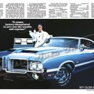 "1971 Oldsmobile 442 Ad Digitized & Re-mastered Poster Print ""It Comes Factory-Blueprinted"" 24"" x 36"""