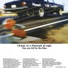 "1965 Plymouth Belvedere Ad Digitized & Re-mastered Poster Print ""You Can Tell by the Blur"" 24"" x 32"""