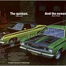 "1971 Plymouth Duster Ad Digitized & Re-mastered Poster Print ""The Quickest and the Newest 24"" x 36"""