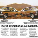 "1972 Plymouth Duster Ad Digitized & Re-mastered Poster Print ""Strength in Numbers"" 24"" x 36"""