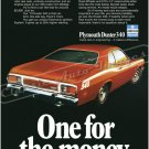 "1973 Plymouth Duster Ad Digitized & Re-mastered Poster Print ""One for the Money"" 24"" x 32"""