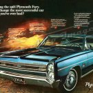 "1968 Plymouth Fury Ad Digitized & Re-mastered Poster Print ""Most Successful Car"" 24"" x 36"""