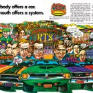 "1970 Plymouth Rapid Transit Ad Digitized & Re-mastered Print ""Only Plymouth Offers a System"" 24""x36"""