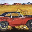 "1969 Plymouth Road Runner Ad Digitized and Re-mastered Poster Print ""Salt Flats"" 24"" x 53"""
