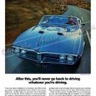 "1967 Pontiac Firebird 400 Ad Digitized and Re-mastered Print ""Whatever You're Driving"" 24""x32"""