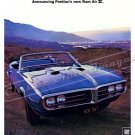 "1968 Pontiac Firebird 400 Ad Digitized and Re-mastered Poster Print ""Pontiac's Ram Air II"" 24"" x 32"""