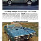 "1968 Pontiac Firebird HO & 400 Ad Digitized & Re-mastered Poster Print ""Light Heavyweight"" 24"" x 32"""