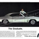 "1969 Pontiac Firebird Ad Digitized & Re-mastered Poster Print ""The Graduate"" 24"" x 32"""