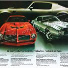 "1973 Firebird Formula & Trans Am Ad Digitized & Re-mastered Print ""Case You Haven't Noticed"" 24""x36"""