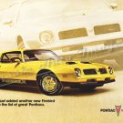 "1976 Pontiac Firebird Ad Digitized & Re-mastered Poster Print ""Another New Firebird"" 24"" x 36"""