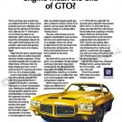 "1971 Pontiac GTO Ad Digitized & Re-mastered Poster Print ""End of the GTO?"" 24"" x 36"""