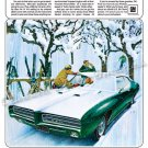 "1969 Pontiac GTO Ad Digitized & Re-mastered Poster Print ""Ski Team"" 24"" x 36"""