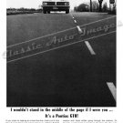 "1964 Pontiac GTO Ad Digitized & Re-mastered Print ""Don't Stand in the Middle of the Page!"" 24"" x 32"""