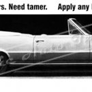 "1965 Pontiac GTO Ad Digitized & Re-mastered Poster Print ""Have New Tigers. Need Tamer"" 24"" x 78"""