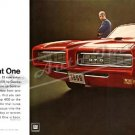 "1968 Pontiac GTO Ad Digitized & Re-mastered Poster Print ""Return of the Great One"" 24"" x 50"""