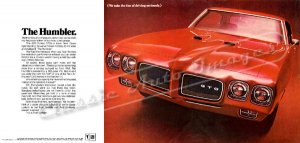 "1970 Pontiac GTO Ad Digitized & Re-mastered Poster Print ""The Humbler"" 24"" x 50"""
