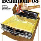 "1968 Pontiac Beaumont Ad Digitized & Re-mastered Poster Print Brochure Cover 24"" x 36"""