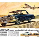 "1962 Chevrolet Impala Ad Digitized & Re-mastered Print ""Goes Jet Smooth"" 24"" x 36"""