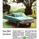 "1964 Chevrolet El Camino Ad Digitized & Re-mastered Print ""Knockout"" 24"" x 36"""