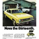 "1974 Chevrolet Nova Ad Digitized & Re-mastered Print ""Nova the Thirteenth"" 18"" x 24"""