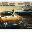 "1971 Oldsmobile Cutlass Ad Digitized & Re-mastered Print ""Vice Versa""  24"" x 36"""
