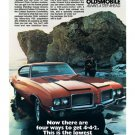 "1972 Oldsmobile 4-4-2 Ad Digitized & Re-mastered Print ""There Are Four Ways to Get 4-4-2"" 18"" x 24"""