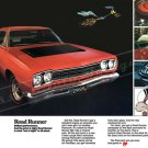 "1968 Plymouth Road Runner Ad Digitized & Re-mastered Print ""Brilliant Performance"" 18"" x 24"""