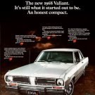"1968 Plymouth Valiant Ad Digitized & Re-mastered Print ""An Honest Compact"" 18"" x 24"""