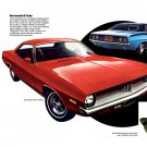 "1973 Plymouth Barracuda Ad Digitized & Re-mastered Print ""Two of the Best Looking""  24"" x 36"""