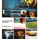 "1966 Pontiac GTO Ad Digitized & Re-mastered Print ""Can Anything This Beautiful"" 18"" x 24"""