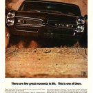"1967 Pontiac GTO Ad Digitized & Re-mastered Print ""There Are Few Great Moments in Life"" 18"" x 24"""