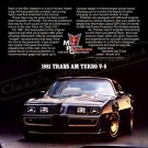 "1981 Pontiac Firebird TransAm Ad Digitized & Re-mastered Print ""Soul Survivor"" 18"" x 24"""