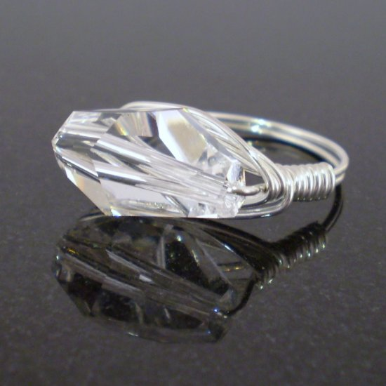 Stunning Swarovski Ring in Sterling Silver