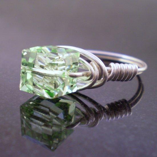 Swarovski Chrysolite Ring in Sterling Silver