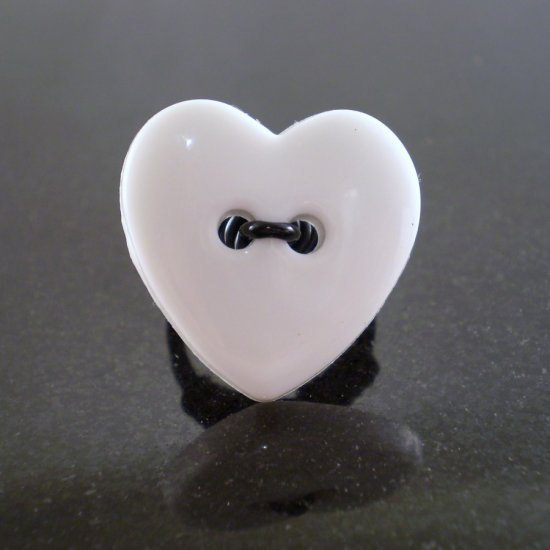 White Heart Ring