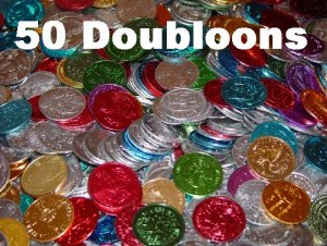 Lot of 50 Mardi Gras Doubloons