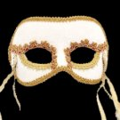 Beautiful White Masquerade Mask Wedding Mask