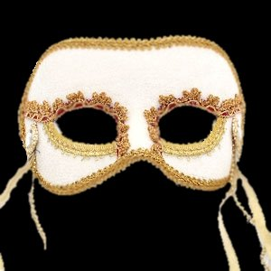 Beautiful White Masquerade Mask Wedding Mask