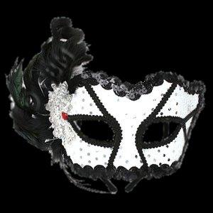 Black & White Masquerade Mask