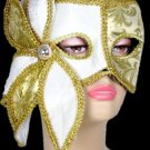 Gold Flower Mardi Gras Velvet Face Mask