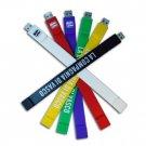 80341 Silicone Bracelet USB Flash Memory Drive - 8GB - Gray
