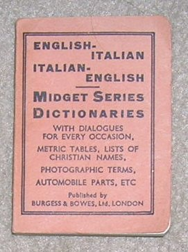 Midget Series Dictionaries English /  Italian - Little Book