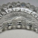 Antique Cut Glass bone shape dish crystal
