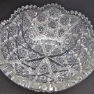 Antique Cut Glass BOWL from the American Brilliant period, crystal ,cluster