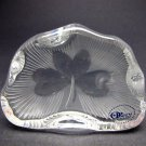 Hand Cut Glass  shamrock pattern paperweight, Ireland 24% lead crystal