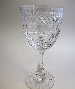Signed Hawkes hand  Cut Crystal Glass goblet