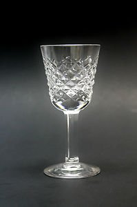 Signed Waterford Hand Cut Alana Irish Crystal Glass Cordials