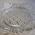 "Signed Fry American Brilliant Period Cut Glass low bowl 9"" square"