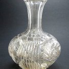 ABP cut glass buzz star carafe / vase American brilliant antique crystal